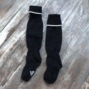 Adidas black youth soccer socks